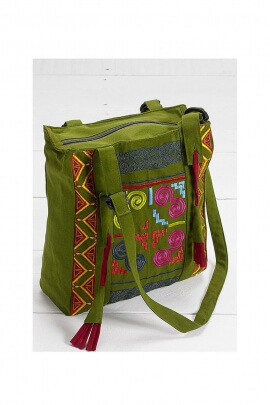 Women Shoulder Bag embroidered cotton