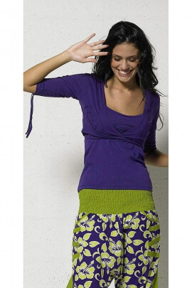 Bolero cotton knit stitched spiral Kingdom