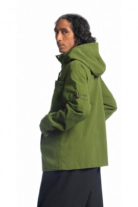 Man hooded jacket lined with cotton