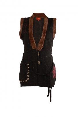 Original patch collar jacket buttoned V