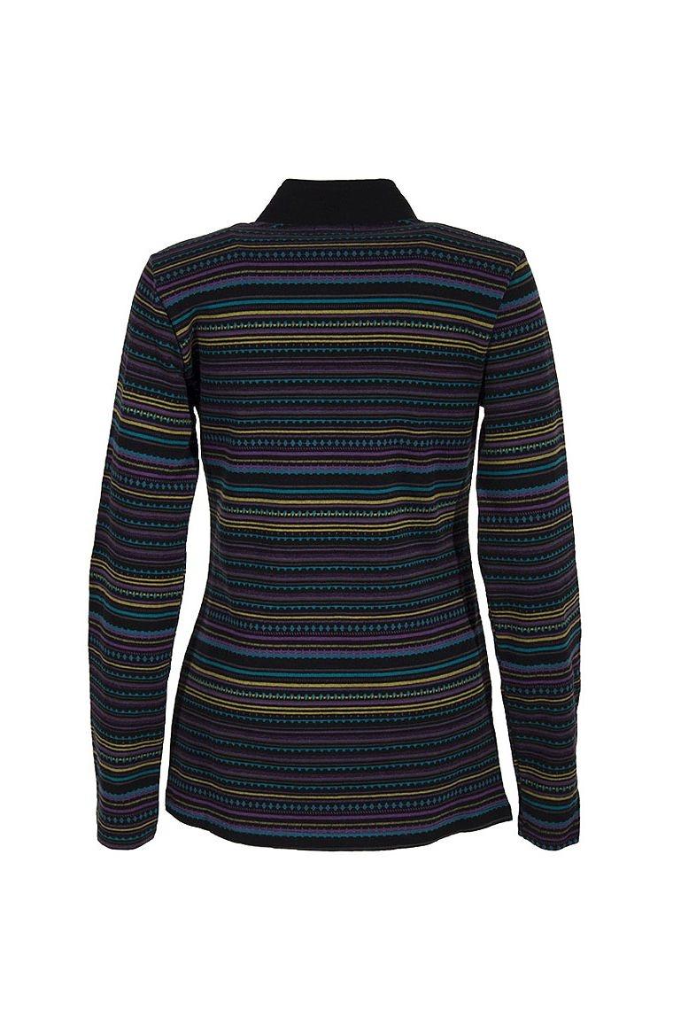 veste zip originale en maille avec des lignes horizontales. Black Bedroom Furniture Sets. Home Design Ideas