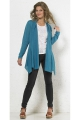 kerchief style jacket open in front of solid color