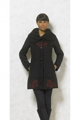 Manteau femme original large col