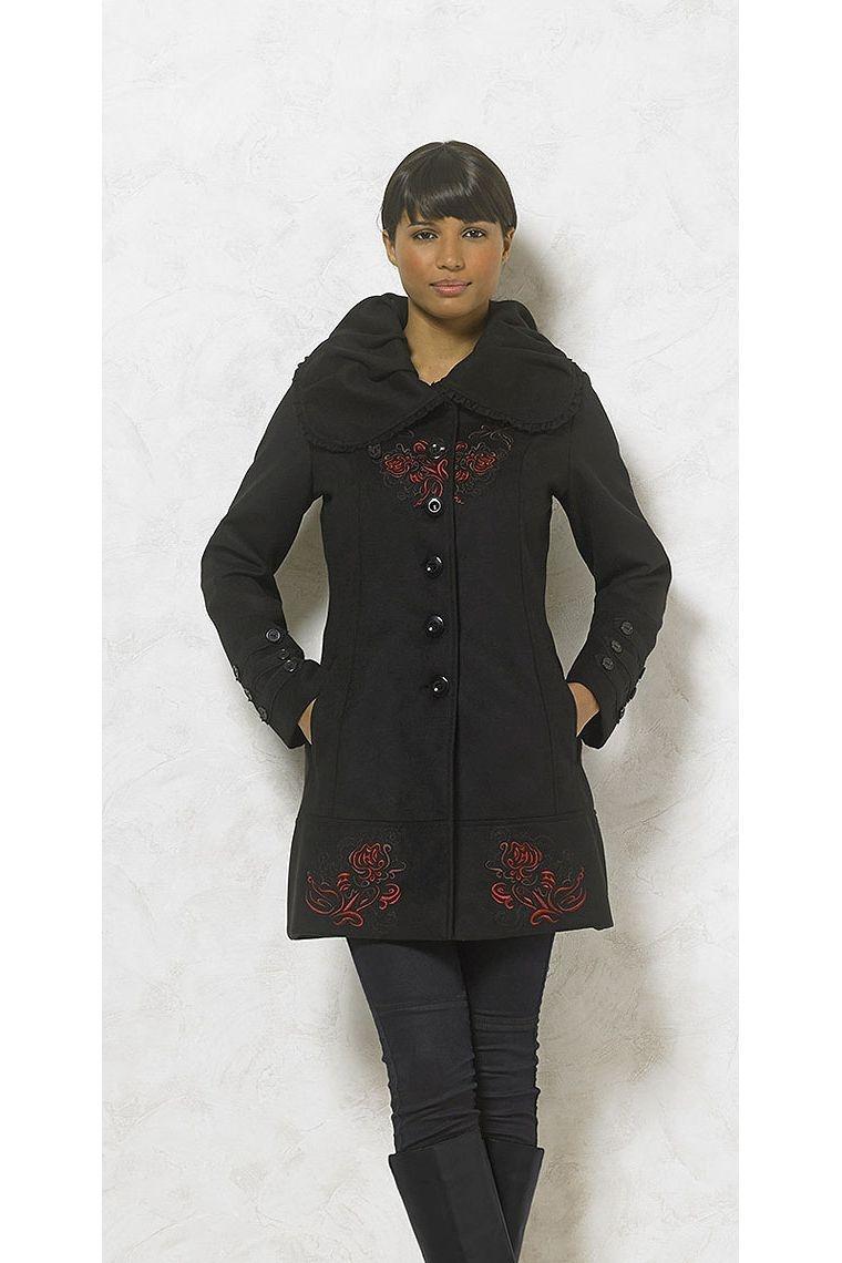 Abrigo de mujer original de ancho collar importados de China c69371a6dcd6