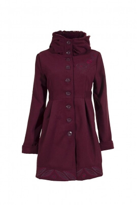 high collar buttoned coat class