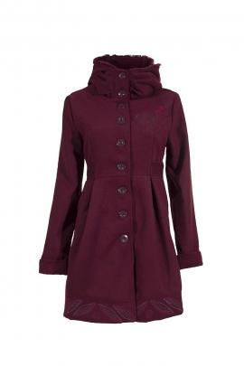 Manteau classe col haut boutonné