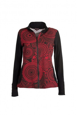 Zip long sleeve jacket mandalas reasons
