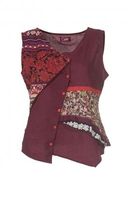 Débardeur Hippie Chic coton patchwork
