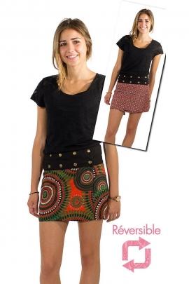 Reversible skirt adjustable button cotton pressures