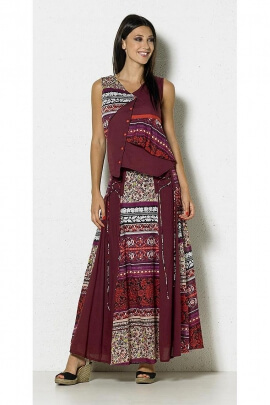 Ethnic skirt long cotton adjustment laces