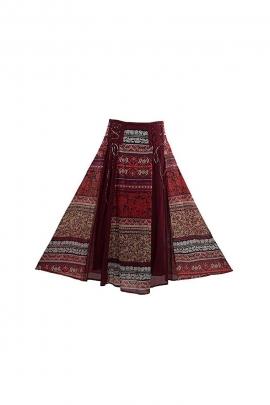 Jupe ethnique longue coton réglage lacets