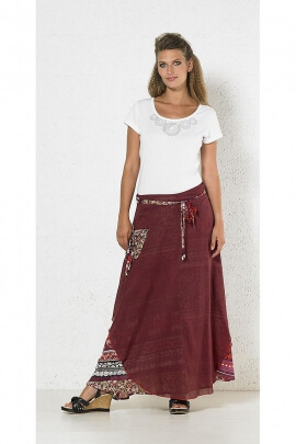 Ethnic skirt long cotton outer lining