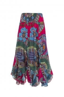 Long Twist skirt in cotton