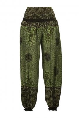 Pantalon bouffant élastique imprimé Thai