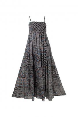 Cotton V-Neck Long Sleeve Casual Dress