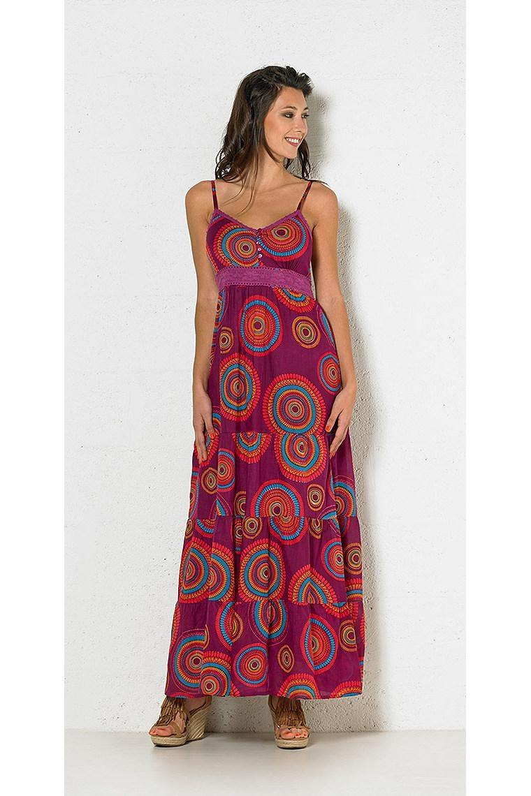 cfd19f936425 La sublime robe indienne longue à bretelles avec imprimés mandalas