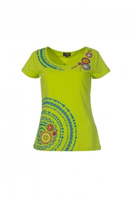 T-shirt imprimé mandala coton élasthanne