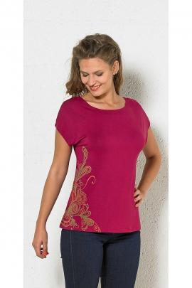 T-shirt femme manches courtes zébra dos original
