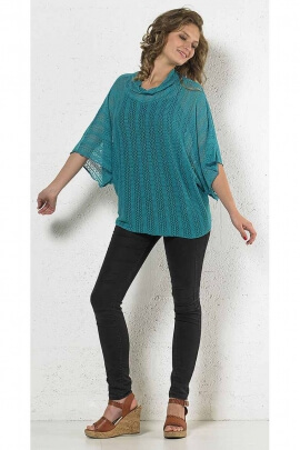 Poncho knit sweater