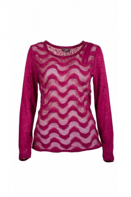 Pull maille filet manches longues