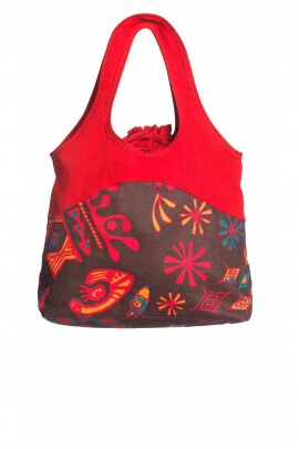 Canvas cotton bag printed zip closure