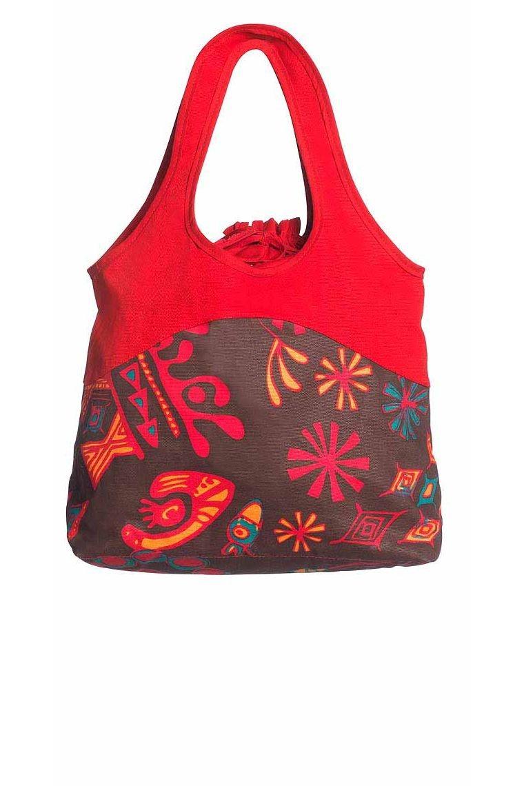 sac tisu ethnique imprimé coloré tropical exotique accessoire décontracté cabas bandoulière originale pas cher promo