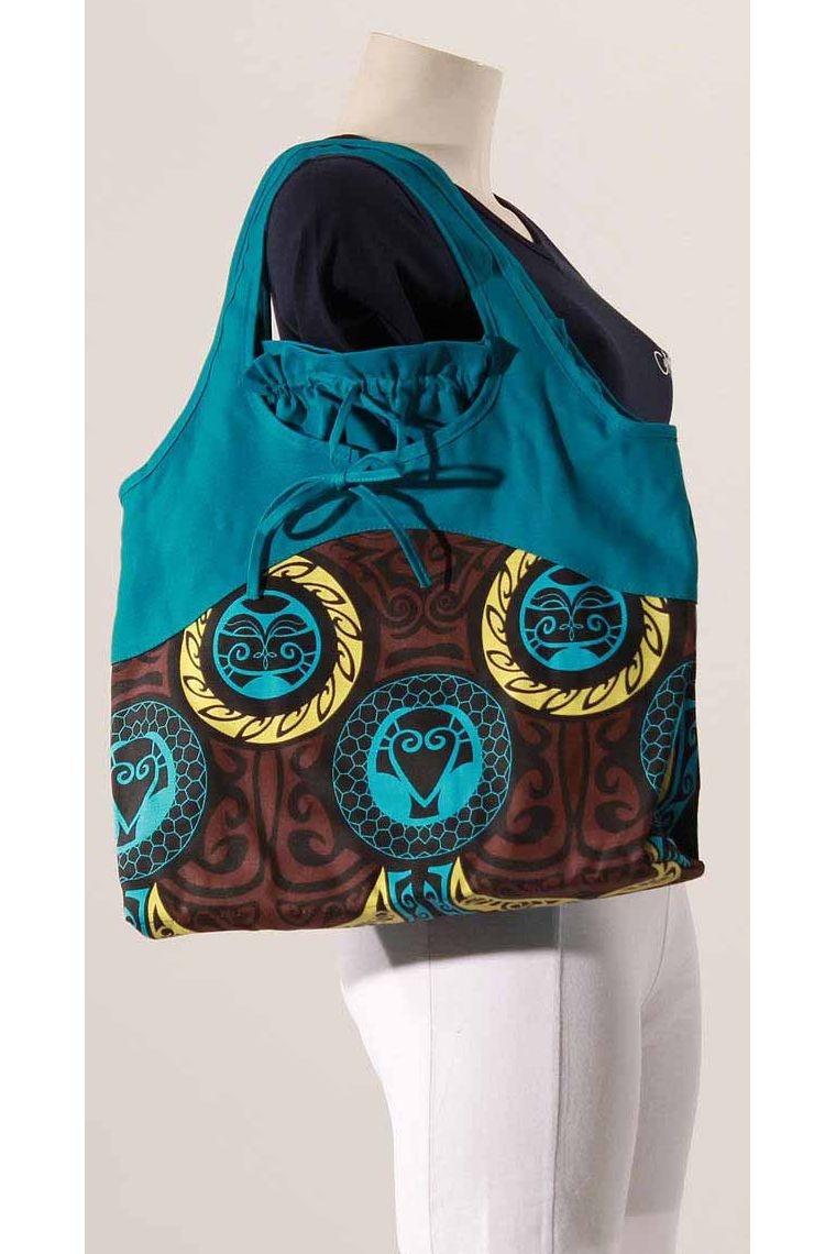 Canvas cotton bag printed zip closure