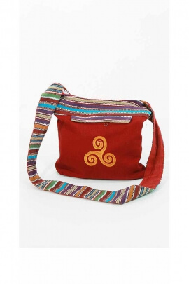 Cotton Embroidered Bag Triskel volute