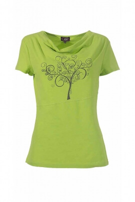T-shirt imprimé dessin stylé coton élasthanne