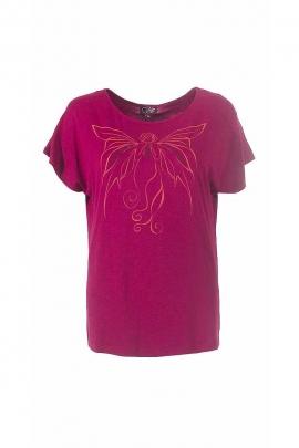 T-shirt imprimé papillon viscose élasthanne