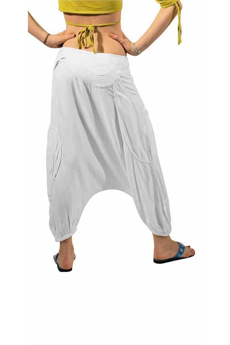 Pantalones Harem Solido Blanco Muy Original Para Mujer