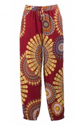 Pantalon droit imprimé ethnique
