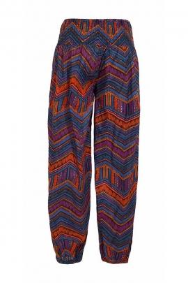Pantalon bouffant ethnique imprimé