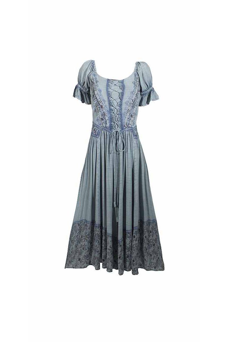 Dress Medieval Princess Long Short Sleeves Viscose