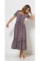 Long dress medieval princess viscose, short sleeves
