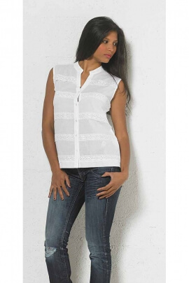cotton blouse, sleeveless, united