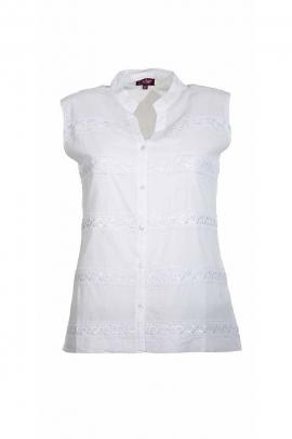 Blusa de algodón, sin mangas, reino