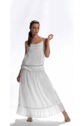 light white petticoat dress with doubled bottom