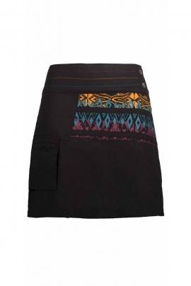 Short skirt in cotton Aztec