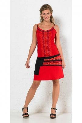 Jupe courte en coton de style aztèque