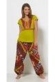 Printed baggy pants for woman