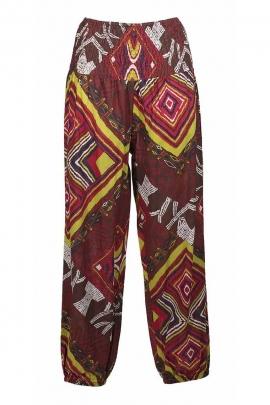 Pantalon imprimé bouffant pour femme