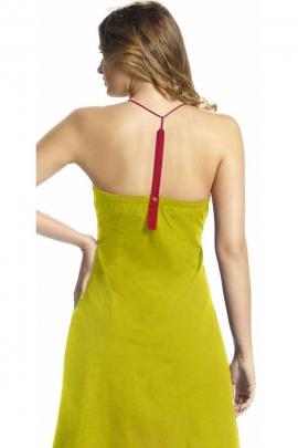 Jolie robe jersey à bretelles, en coton, courte et fleurie