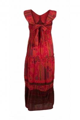 Robe longue romantique en voile de coton