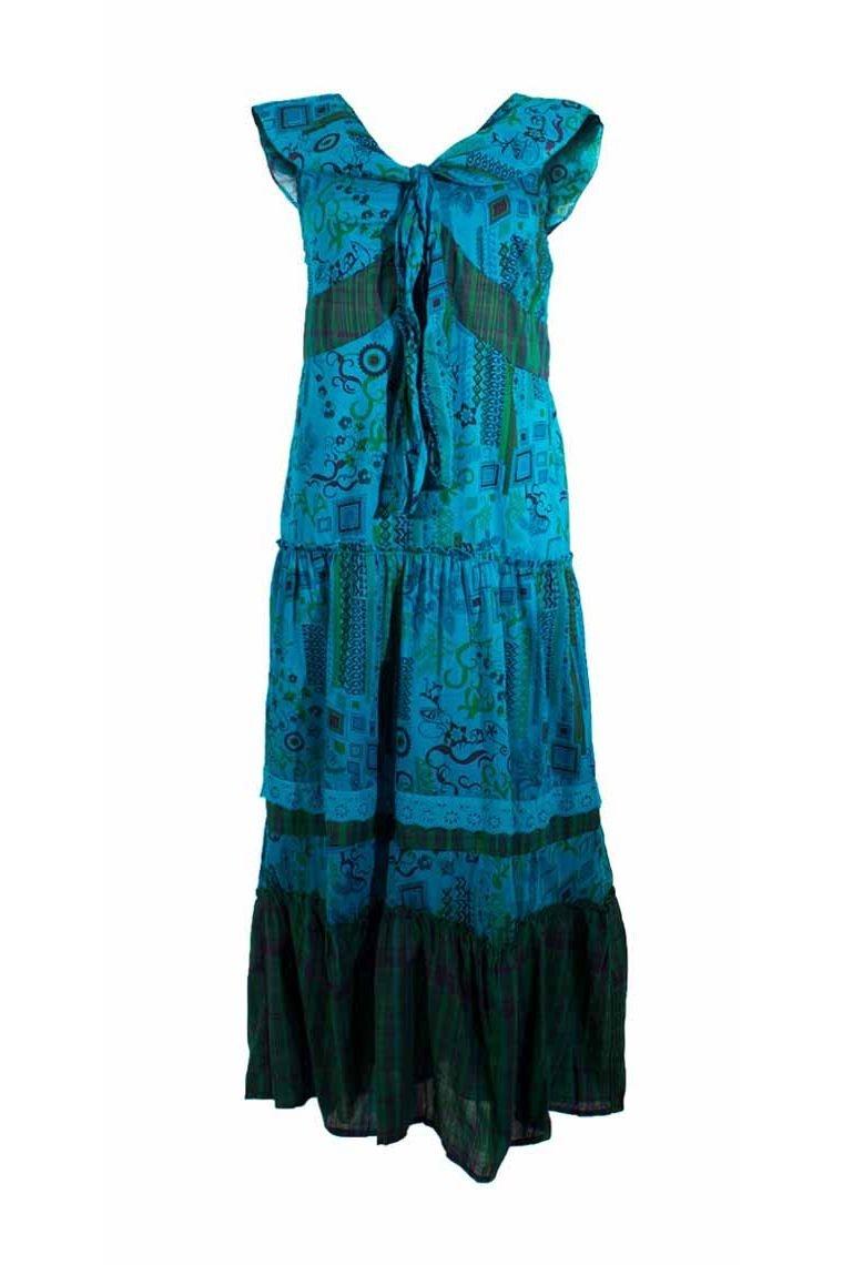 robe longue hippie chic et romantique en voile de coton. Black Bedroom Furniture Sets. Home Design Ideas