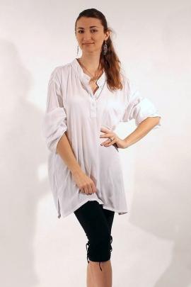 Chemise viscose à manches longues, style peintre