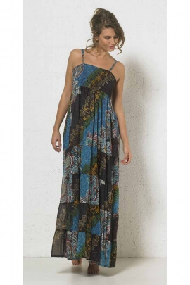 Light Long dress in cotton voile lining