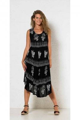 sundress Crepe pattern butterflies and cashmere buffered