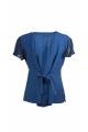 Pretty romantic embroidered blouse Stone Wash