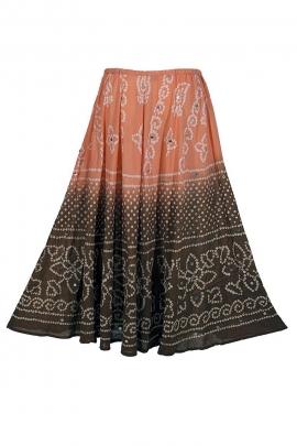 Jupe longue en coton, avec des couleurs dégradées